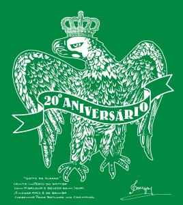 """<表面> ダミアォンさんデザインのインペリオの象徴 """"鷲に王冠"""" とダミアォンさんのサイン、手書きの""""GRiTo DE GUERRA""""♪"""
